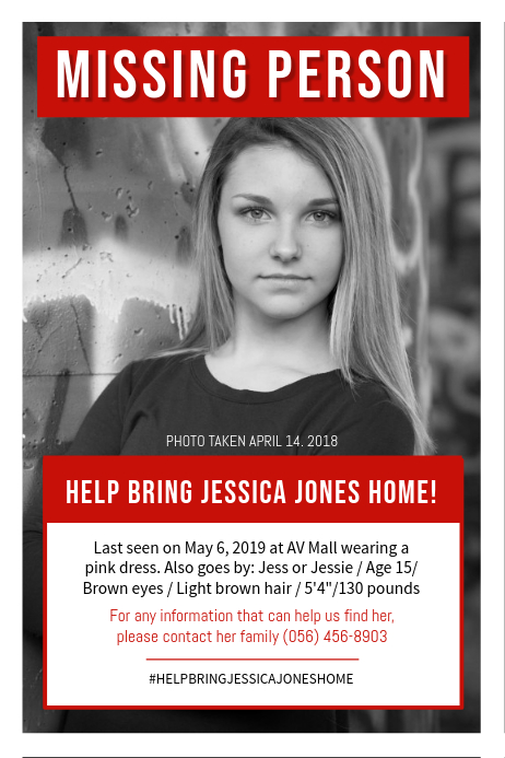 Untyme – Missing Person's Flyer